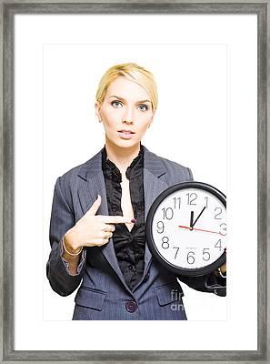 Business Deadline Framed Print by Jorgo Photography - Wall Art Gallery