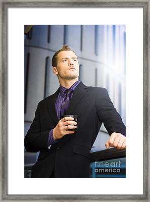 Business Dreams And Aspirations Framed Print