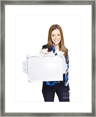 Business Finance Woman Framed Print by Jorgo Photography - Wall Art Gallery