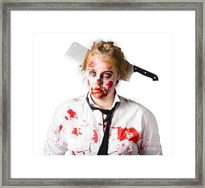 Business Headache Framed Print by Jorgo Photography - Wall Art Gallery