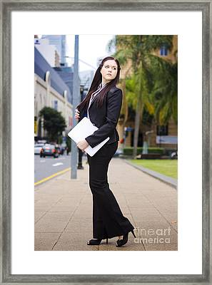 Business Online And On The Move Framed Print by Jorgo Photography - Wall Art Gallery