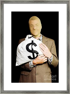 Business Or White-collar Thief Framed Print