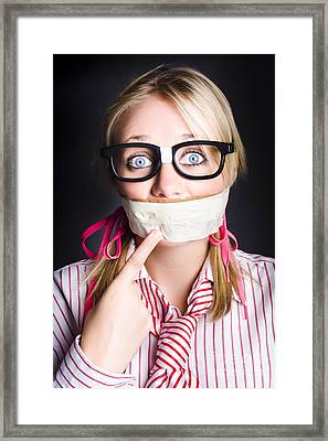 Business Person Marketing Self On Face Value Framed Print by Jorgo Photography - Wall Art Gallery