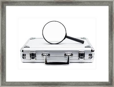 Business Search And Review On White Background Framed Print by Jorgo Photography - Wall Art Gallery