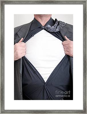 Business Superhero Framed Print by Antony McAulay