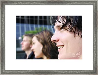 Business Team Framed Print by Jorgo Photography - Wall Art Gallery