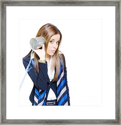 Business Technology And Communication Framed Print by Jorgo Photography - Wall Art Gallery