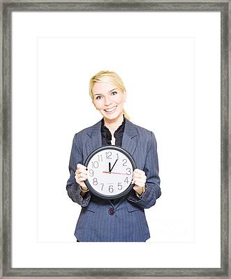 Business Time Framed Print by Jorgo Photography - Wall Art Gallery