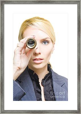 Business Vision Framed Print by Jorgo Photography - Wall Art Gallery