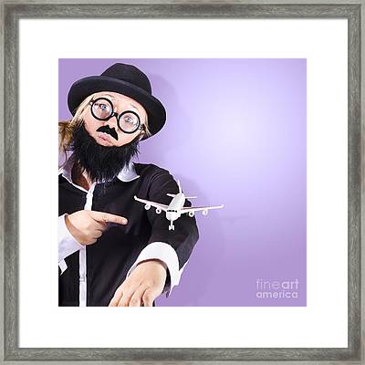 Businessman Travelling Business Class Framed Print by Jorgo Photography - Wall Art Gallery