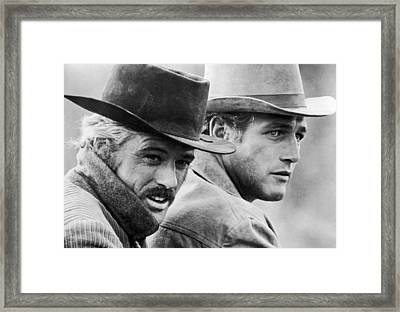 Butch Cassidy And The Sundance Kid Framed Print by Georgia Fowler