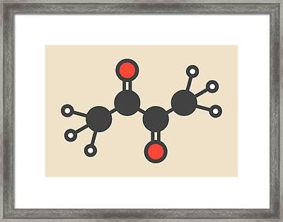 Butter Flavouring Molecule Framed Print