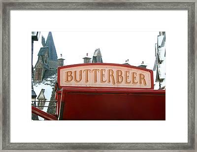 Butterbeer Sign Framed Print