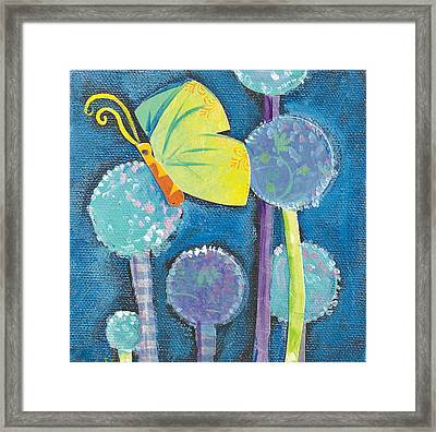 Butterfly And The Dandies Framed Print