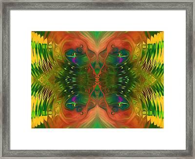 Butterfly Matrix Framed Print