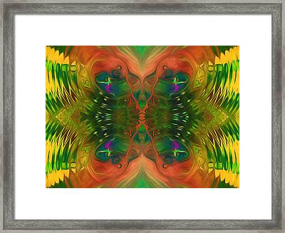 Butterfly Matrix Framed Print by Georgiana Romanovna