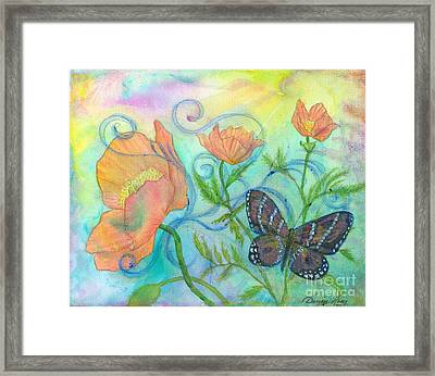 Butterfly Reclaimed Framed Print