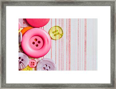 Buttons Framed Print by Tom Gowanlock