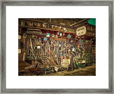 Buy - Sell Framed Print by MJ Olsen