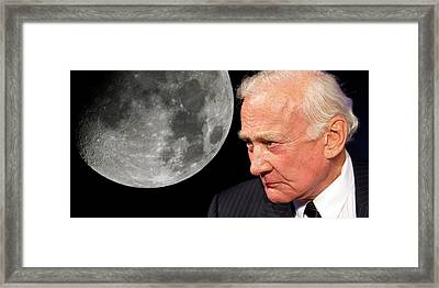 Buzz Aldrin Framed Print by Detlev Van Ravenswaay