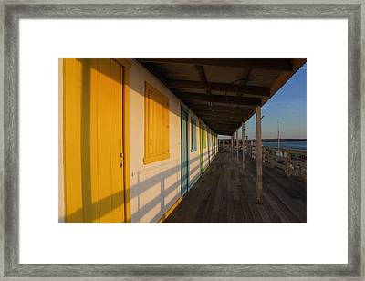 Cabana's West Meadow Beach New York Framed Print by Bob Savage