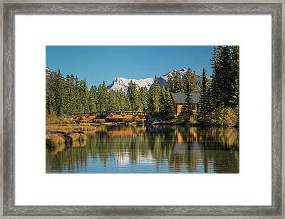 Cabin And Bridge On Policemans Creek Framed Print by Panoramic Images