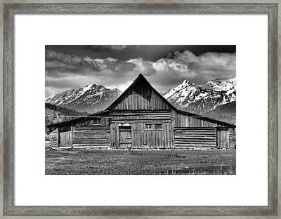 John Moulton Barn And Teton Range Framed Print by Dan Sproul