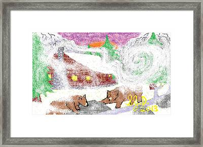 Cabin In The Mountains Framed Print by Joe Dillon