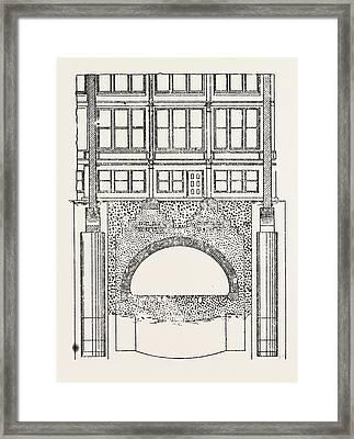 Cable Railway Tunnel Under River Near Van Buren Street Framed Print by American School