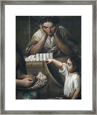 Cabrera, Miguel 1695-1768. De Castizo Y Framed Print