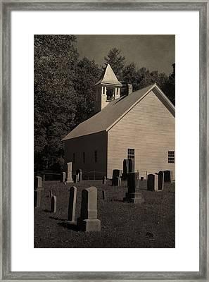 Cades Cove Primitive Baptist Church Framed Print by Dan Sproul