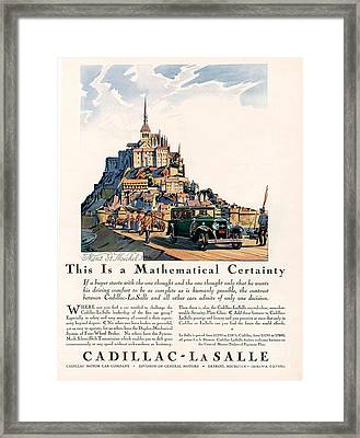 Cadillac La Salle 1929 1920s Usa Cc Framed Print by The Advertising Archives