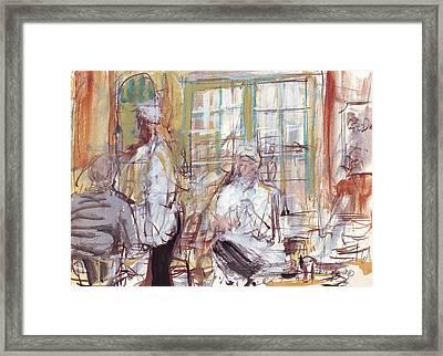 Cafe Du Monde  Framed Print by Edward Ching