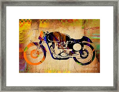 Cafe Racer Painting. Framed Print