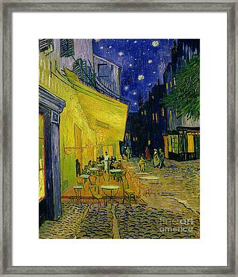 Cafe Terrace Arles Framed Print by Vincent van Gogh