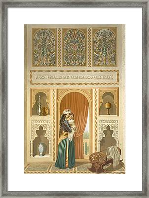 Cairo Interior Of The Domestic House Framed Print