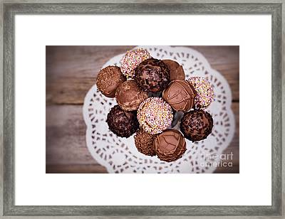 Cake Pops Framed Print by Jane Rix