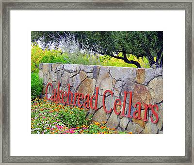 Cakebread Cellars Framed Print by Jeff Lowe
