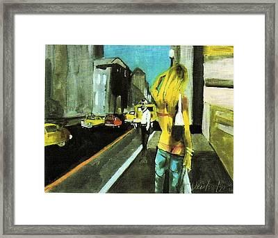 California Dreamin Calif Tan Framed Print by Harry WEISBURD