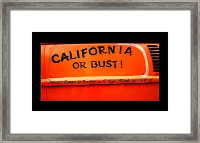 California Or Bust Framed Print