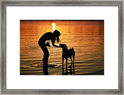 Call And Answer Framed Print