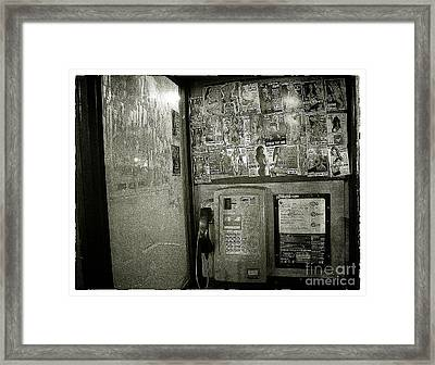 Call Me  Framed Print by Rob Hawkins