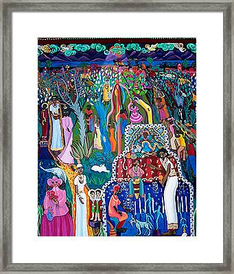 Calling The Spirits Framed Print by Maria Alquilar