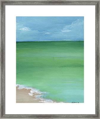 Calm Sea Framed Print by Anne Seay