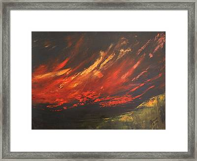 Camberwell Skies Framed Print by Jan Lowe