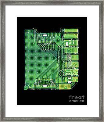 Camera Memory Chip X-ray Framed Print by Bert Myers