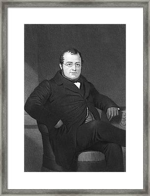 Camillo Benso Cavour (1810-1861) Framed Print