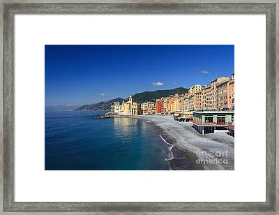 Framed Print featuring the photograph Camogli - Italy by Antonio Scarpi