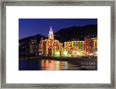 Camogli At Evening Framed Print
