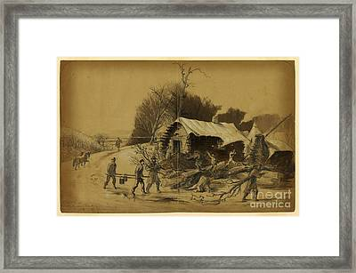 Camp Near Matawoman Framed Print by Celestial Images